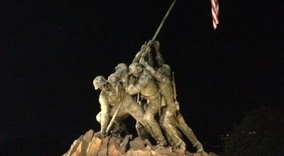 Photo of Monument / Landmark US Marine Corps War Memorial (Iwo Jima) at Us Marine Memorial Cir, Arlington, VA 22209, United States