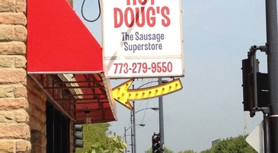 Photo of Hot Dog Joint Hot Doug's at 3324 N California Ave, Chicago, IL 60618, United States