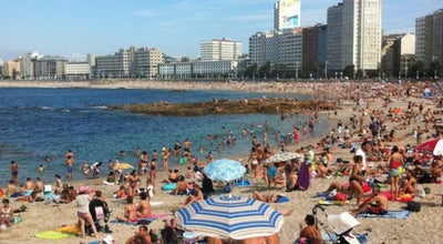 Photo of Beach Praia de Riazor at Av. Pedro Barrié De La Maza, A Coruña 15004, Spain