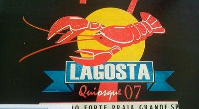 Photo of Seafood Restaurant Quiosque Lagosta at Av. Presidente Castelo Branco (quiosque 7), Praia Grande, Brazil