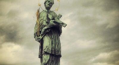 Photo of Outdoor Sculpture Svatý Jan Nepomucký | Saint John of Nepomuk at Karlův Most, Praha 118 00, Czech Republic