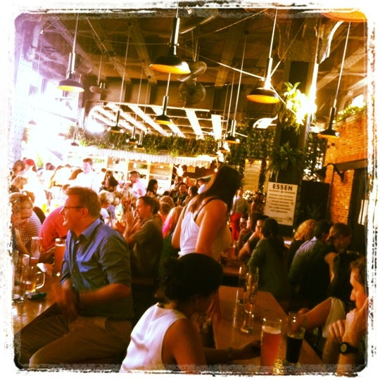 Photo taken at The Biergarten at The Standard by Kirsten M. on 8/2/2012
