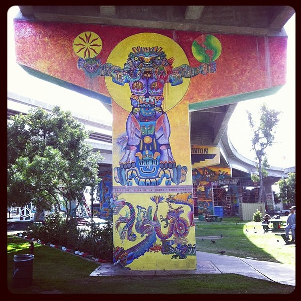 Photo taken at Chicano Park by Jasin D. on 11/19/2011