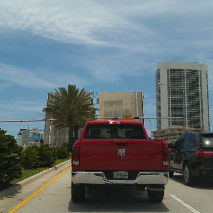 Photo taken at Waiting For The Hallandale Bridge by Angelo F. on 6/9/2012