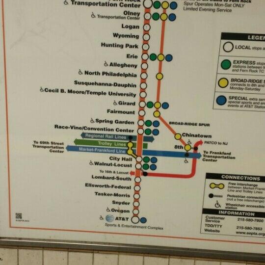Photo taken at SEPTA MFL/TRL 15th Street Station by Stephen S. on 11/16/2015