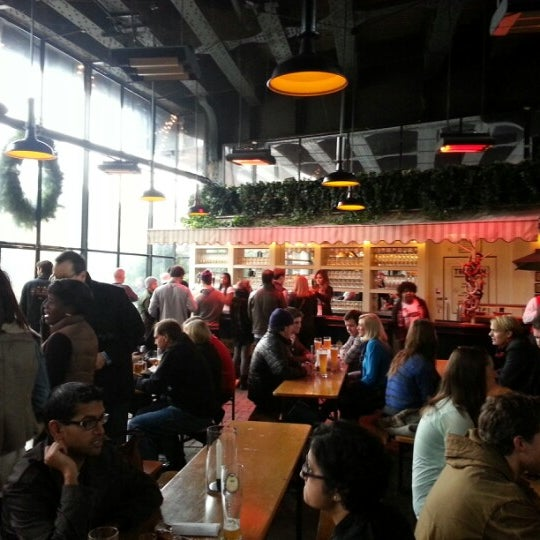 Photo taken at The Biergarten at The Standard by Jack N. on 12/8/2012