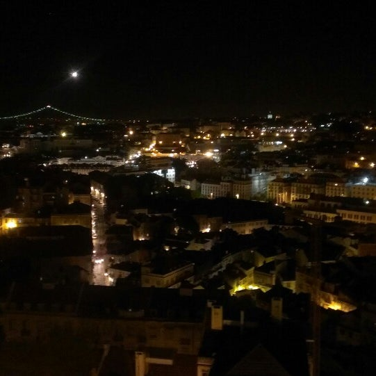 Photo taken at Miradouro da Graça by Tiago S. on 4/20/2013