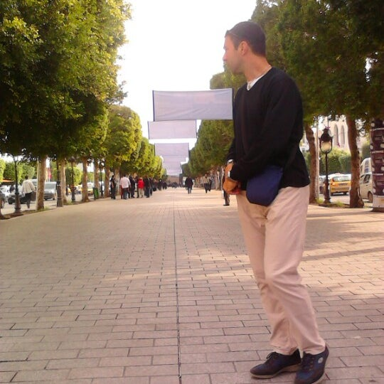 Photo taken at Avenue Habib Bourguiba by Nabil B. on 11/17/2012