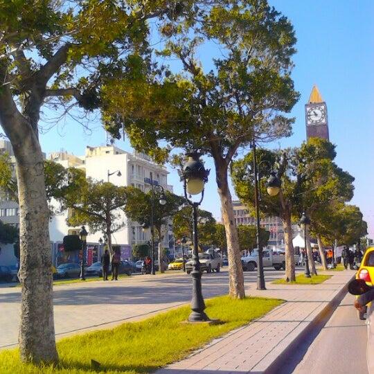 Photo taken at Avenue Habib Bourguiba I شارع الحبيب بورقيبة by Nabil B. on 11/24/2012