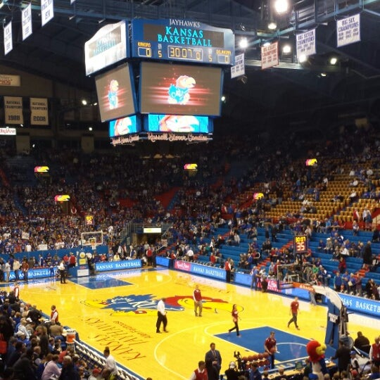 Photo taken at Allen Fieldhouse by Laura K. on 2/25/2014