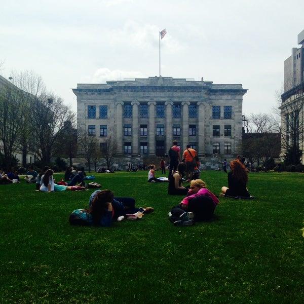 Photo taken at Harvard Medical School Quadrangle by Ally R. on 4/14/2014