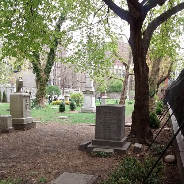 Photo taken at New York City Marble Cemetery by Michael-Zero on 5/4/2014