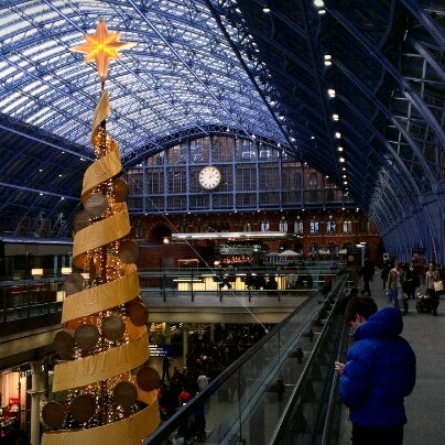 Photo taken at London St Pancras International Railway Station (STP) by Joel R. on 12/23/2012