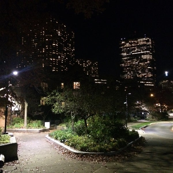 Photo taken at SW Corridor Park - Back Bay by Bill D. on 11/17/2015