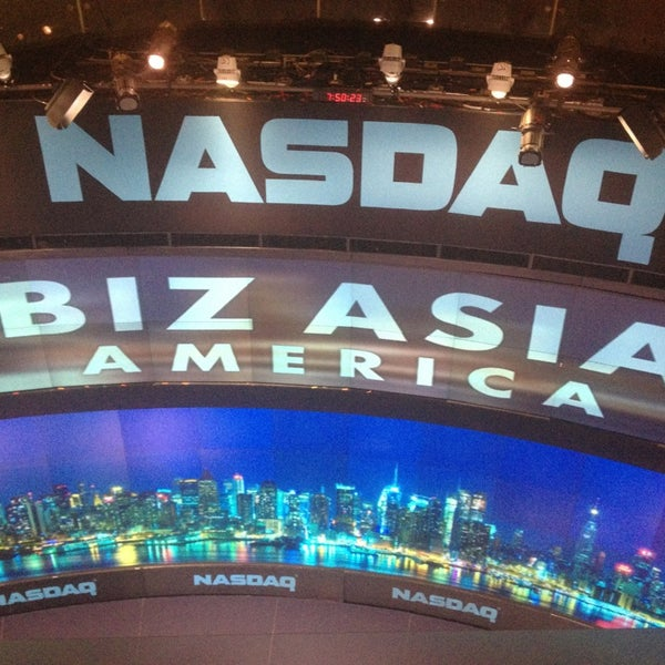 Photo taken at Nasdaq Marketsite by Kim C. on 1/17/2013