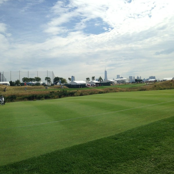 Photo taken at Liberty National Golf Course by Meg T. on 8/23/2013