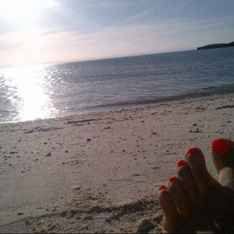 Photo taken at Playa Pichilingue by Johanna D. on 11/11/2012