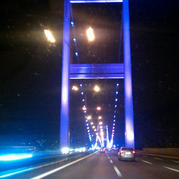 Photo taken at Fatih Sultan Mehmet Bridge by Elif Gül Y. on 7/14/2013