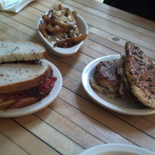 Photo taken at Mile End Delicatessen by Jackie G. on 2/19/2014