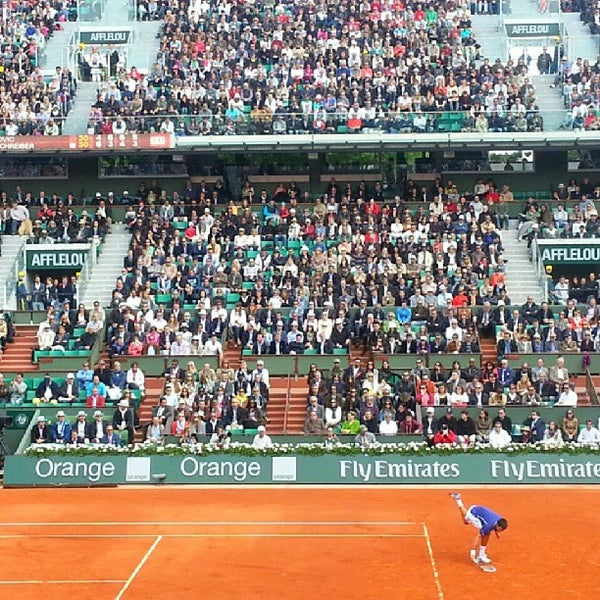Photo taken at Stade Roland Garros by Nawal on 6/3/2013