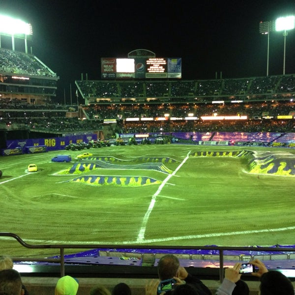 Photo taken at O.co Coliseum by David S. on 2/23/2014