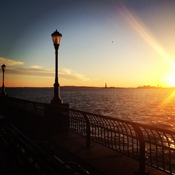 Photo taken at Battery Park City Esplanade by Julie H. on 1/20/2013