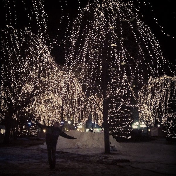 Photo taken at Rice Park by Meghan K. on 1/24/2013