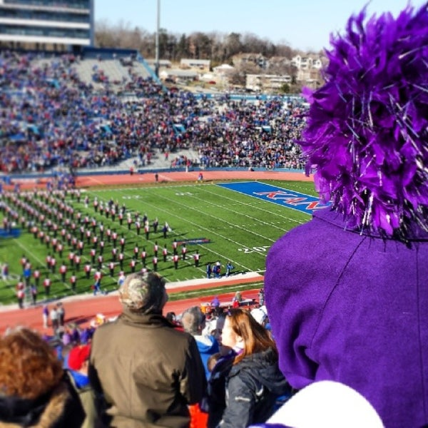 Photo taken at Memorial Stadium by Lauren P. on 11/30/2013