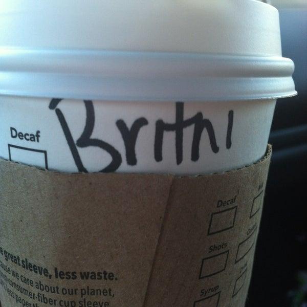 Photo taken at Starbucks by Brit Paige F. on 1/17/2013