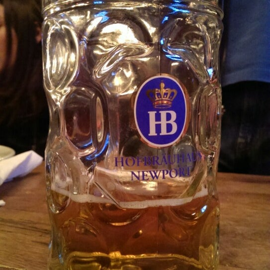 Photo taken at Hofbräuhaus Newport by Steve S. on 2/22/2014