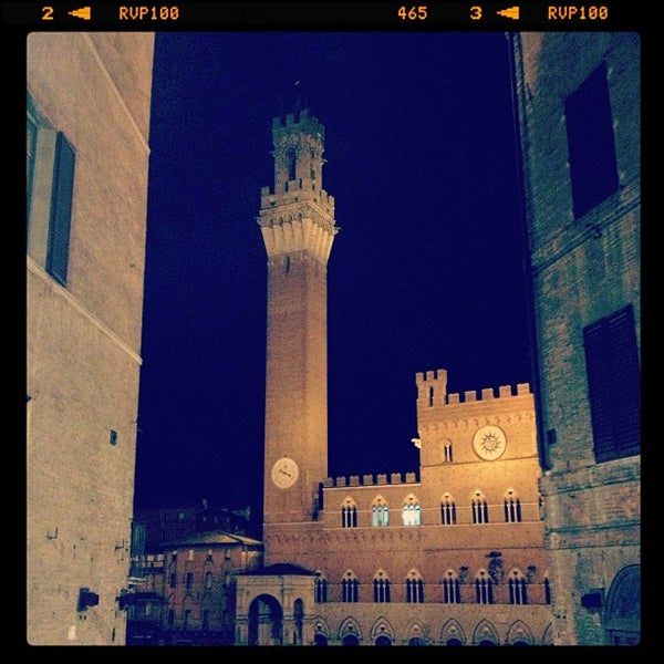 Photo taken at Piazza del Campo by Una Snob on 1/21/2013