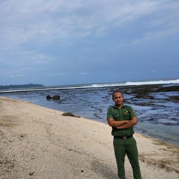 Photo taken at Pantai Barat Pangandaran by Luthfi M. on 6/1/2015