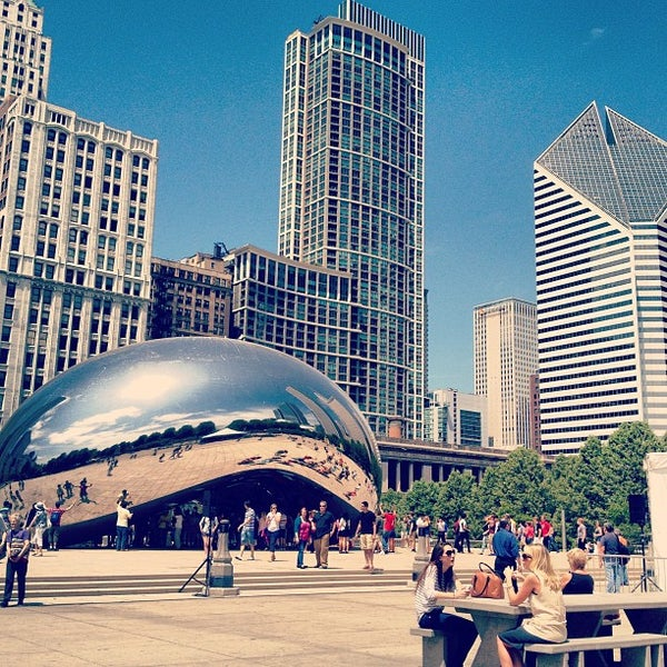 Photo taken at Cloud Gate by Evan P. on 5/20/2013