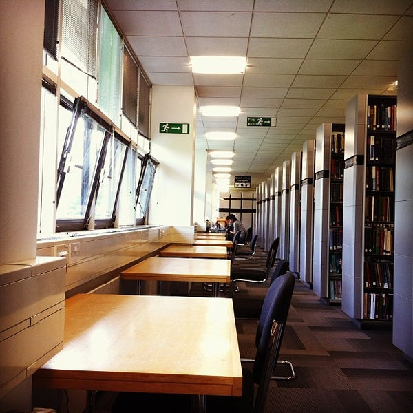 Photo taken at University of Warwick Library by Faye U. on 6/19/2013