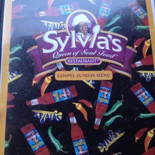 Photo taken at Sylvia's Restaurant by Felipe T. on 10/14/2012