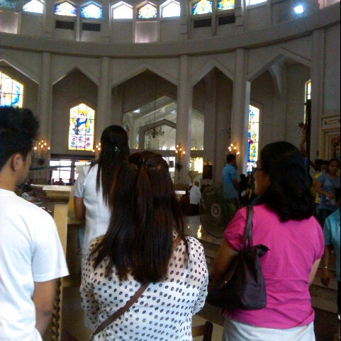 Photo taken at National Shrine of Our Lady of Peace and Good Voyage (Antipolo Cathedral) by Dennis L. on 10/14/2012