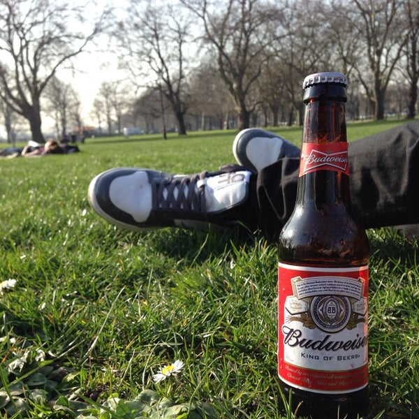 Photo taken at Clapham Common by Ben J. on 3/13/2014