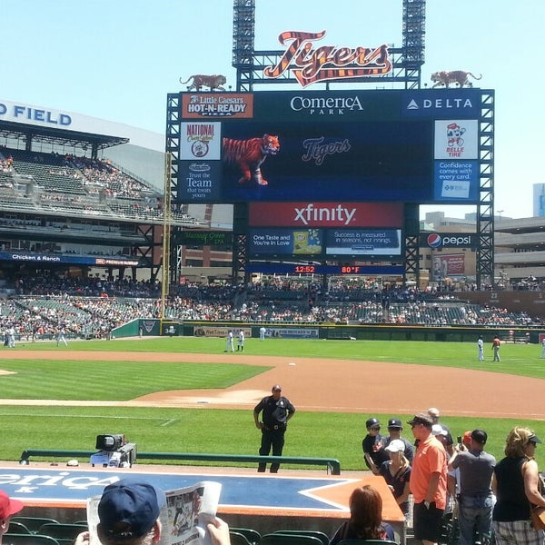 Photo taken at Comerica Park by Melissa K. on 5/15/2013