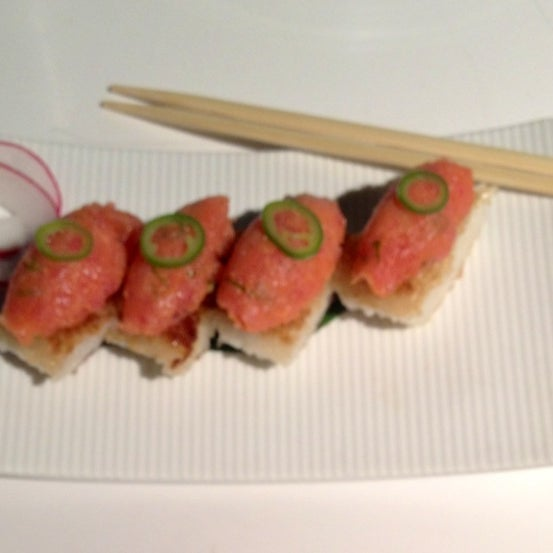 Photo taken at Katsuya Brentwood by Dress for the Date on 5/27/2013