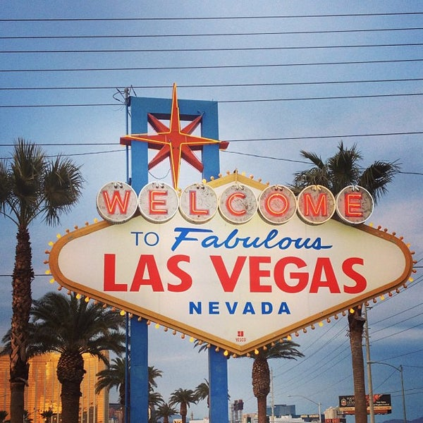 Photo taken at Welcome To Fabulous Las Vegas Sign by Jaime M. on 1/10/2013