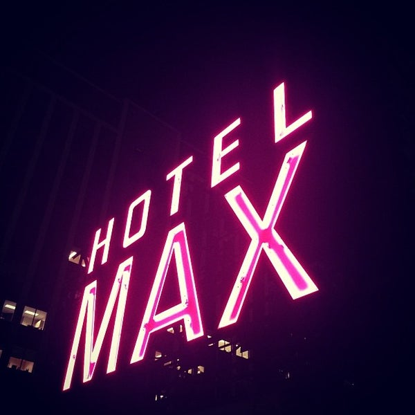 Photo taken at Hotel Max by Travis W. on 1/25/2014
