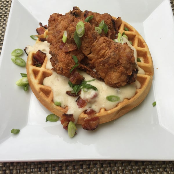 Amazing fried chicken and waffles!