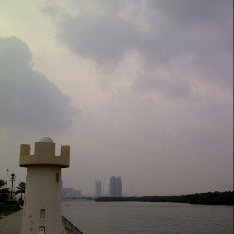 Photo taken at Eastern Mangroves Corniche by Emirates S. on 11/8/2012