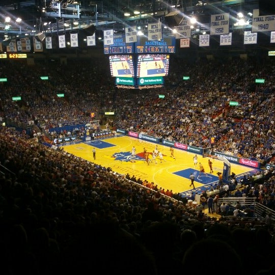 Photo taken at Allen Fieldhouse by Steve W. on 1/10/2013