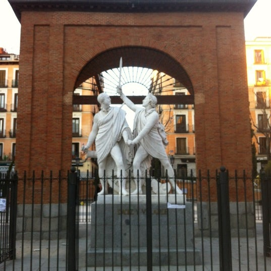 Photo taken at Plaza del Dos de Mayo by Antonio S. on 2/23/2013