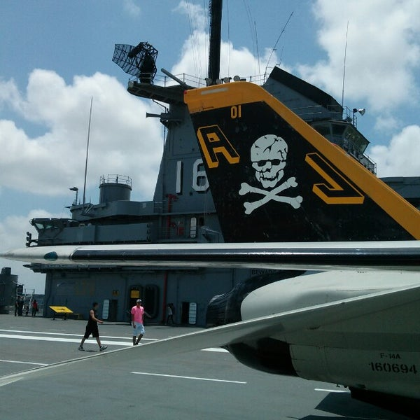 Photo taken at USS Lexington Museum On The Bay by Anton S. on 5/28/2013