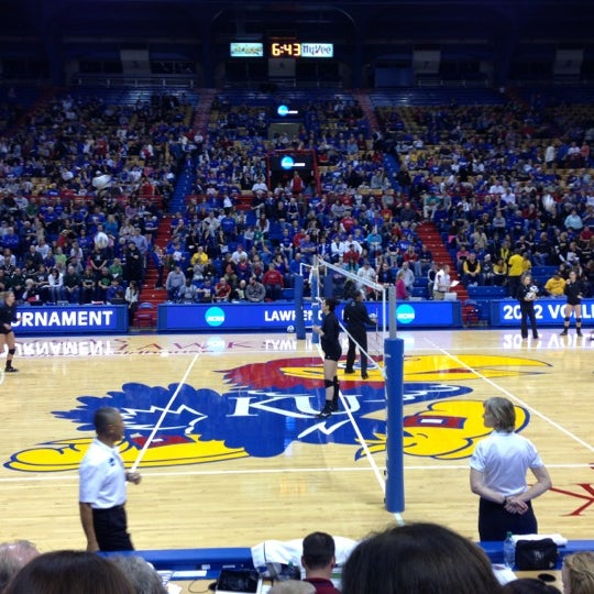 Photo taken at Allen Fieldhouse by Chelsea R. on 12/1/2012