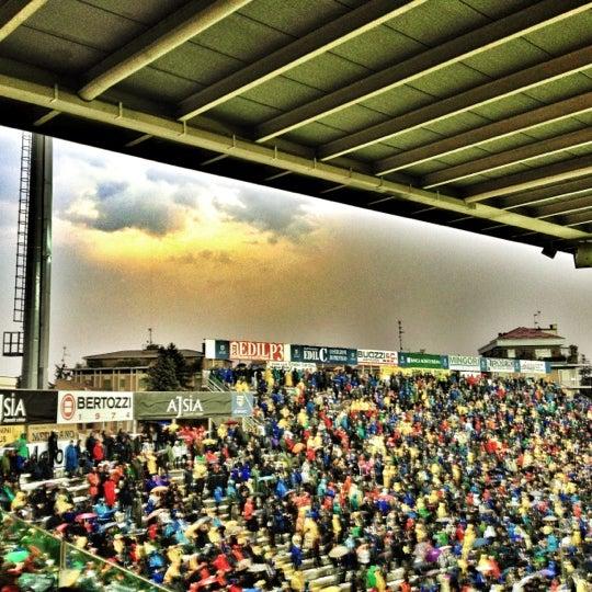 Photo taken at Stadio Ennio Tardini by Alberto E. on 9/29/2012