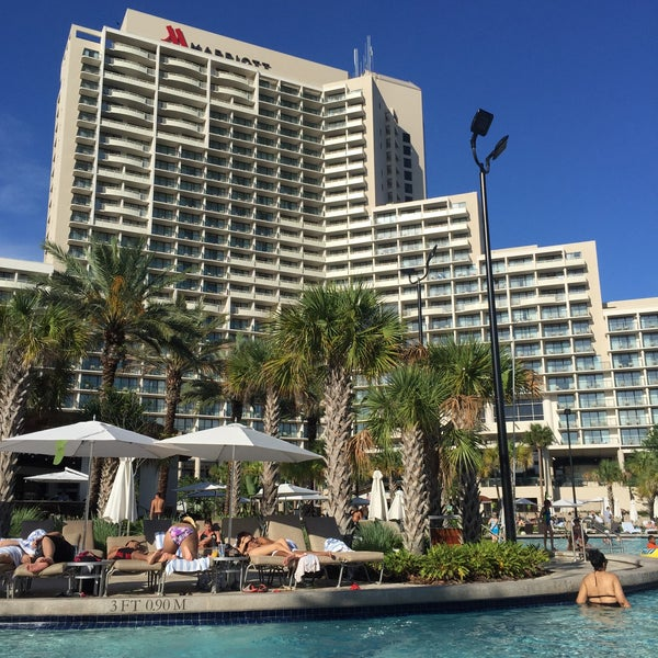 Photo taken at Marriott World Center Pool by Pat M. on 5/31/2015