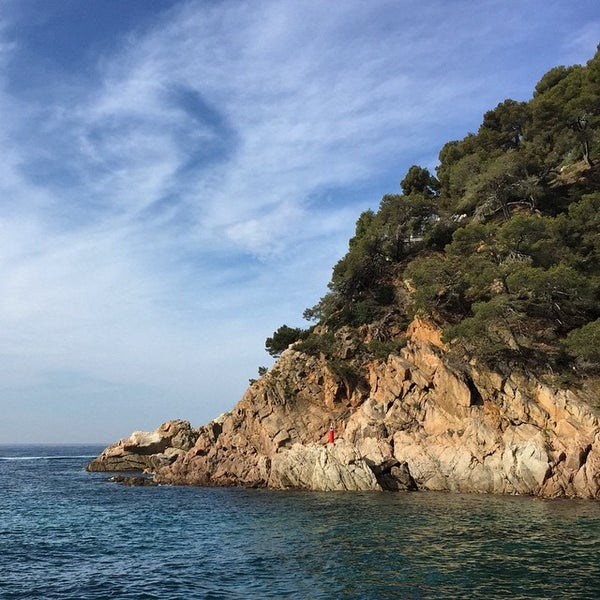 Photo taken at Cala Canyelles by Lanora M. on 5/3/2015